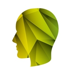 head with abstract texture vector image