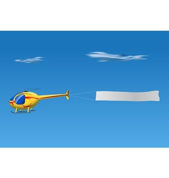 helicopter banner vector image