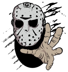 horror hockey mask halloween vector image vector image