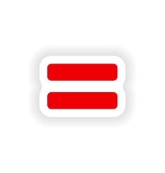 Icon sticker realistic design on paper equality vector