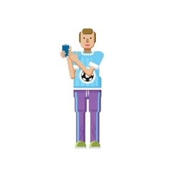 isolated of European man with blond vector image vector image