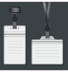 Lanyard Retractor end badge vector image