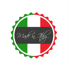 Made in italy symbol italian sticker vector