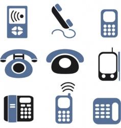 phones signs vector image vector image