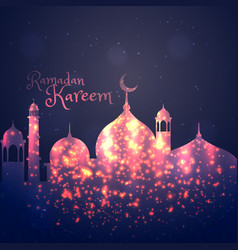 Ramadan kareem background greeting vector