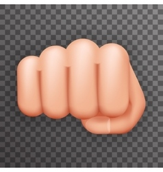 Realistic 3d punch fist hand palm icon social vector