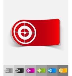 realistic design element target vector image