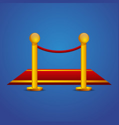red carpet and barrier rope vector image vector image