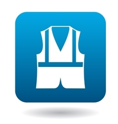 Safety vest icon in simple style vector