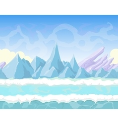 Seamless cartoon fantasy landscape with vector