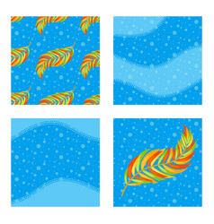set of colored patterns and backgrounds with vector image