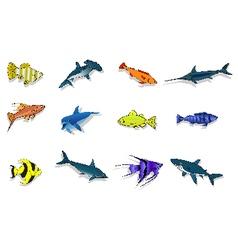 Set of fish vector
