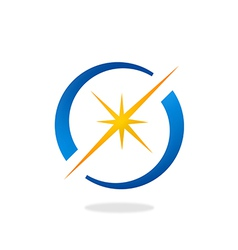 Spark star shine circle logo vector