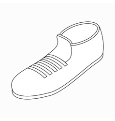 Sport shoe icon isometric 3d style vector