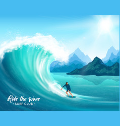Surfer and big wave vector
