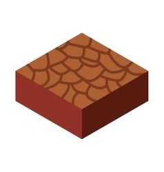 terrain isometric isolated icon vector image vector image