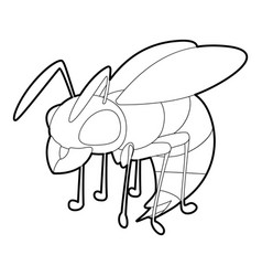 Wasp icon outline style vector