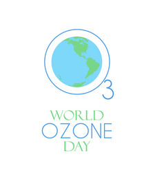 world ozone day vector image vector image