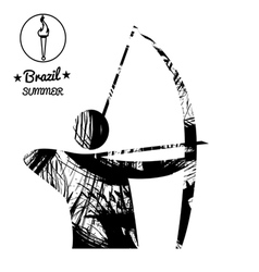Brazil summer sport card with an abstract archery vector