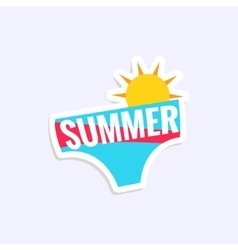 Male swimwear bright color summer inspired sticker vector