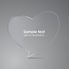 Love realistic glass speech bubbles vector