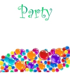 Baloons for party advertising and presentations vector