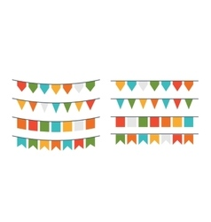 Garlands flags of different forms vector