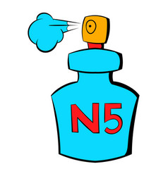 bottle of chanel no5 perfume icon cartoon vector image