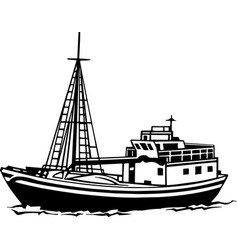 Acg00405 fishing trawler vector