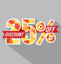 Discount 25 percent off vector