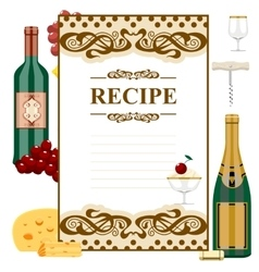 Blank for wine list vector
