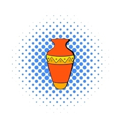 Egyptian vase icon in comics style vector
