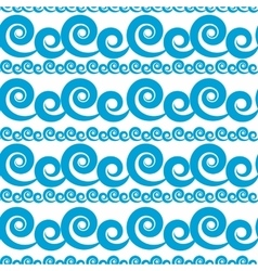 Abstract wave seamless pattern background vector
