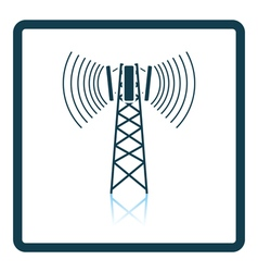 Cellular broadcasting antenna icon vector