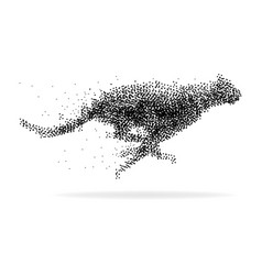 a cheetah made from dots vector image