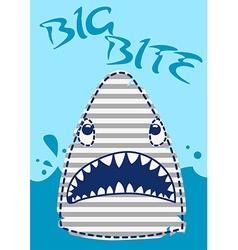 Big bite shark vector