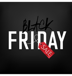 black friday on mesh black background vector image vector image