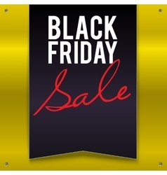 Black Friday sale large banner pennant flag on a vector image vector image
