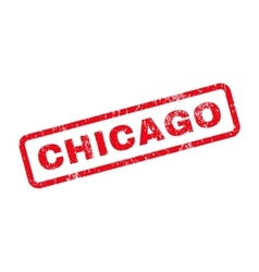 Chicago text rubber stamp vector