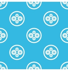 Cogs sign blue pattern vector image