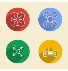 Colored icons for quadrocopter vector