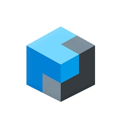 Cube 3d box logo vector
