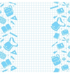Design template with education supplies vector