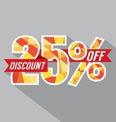 Discount 25 percent off vector