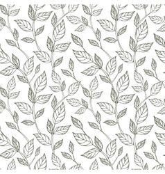 Hand-drawn black and white seamless pattern with vector image vector image