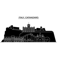 italy catanzaro architecture city skyline vector image vector image