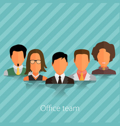 people avatars group icons in flat style vector image