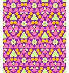 Pink violet green orange color abstract geometric vector