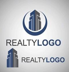 realty logo 3 2 vector image
