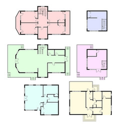 Set of architectural plans vector